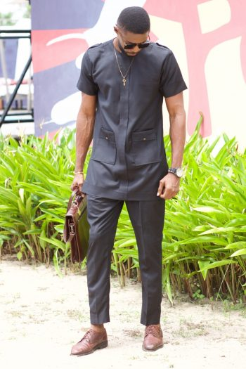 African Mens Clothing - African Senator Suit Igho