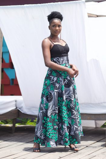 African Print Clothing - African Print Maxi Skirts with Pockets - Kanele by Naborhi
