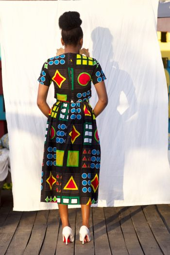 African Print Crop Top And Midi Skirt Azuka by Naborhi