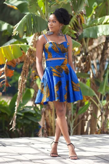 African Print Crop Top and African Skirt by Naborhi by Danai