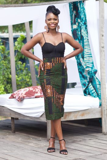 African Print Pencil Skirt Dore by Naborhi