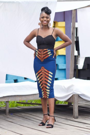 African Print Pencil Skirt Oma by Naborhi