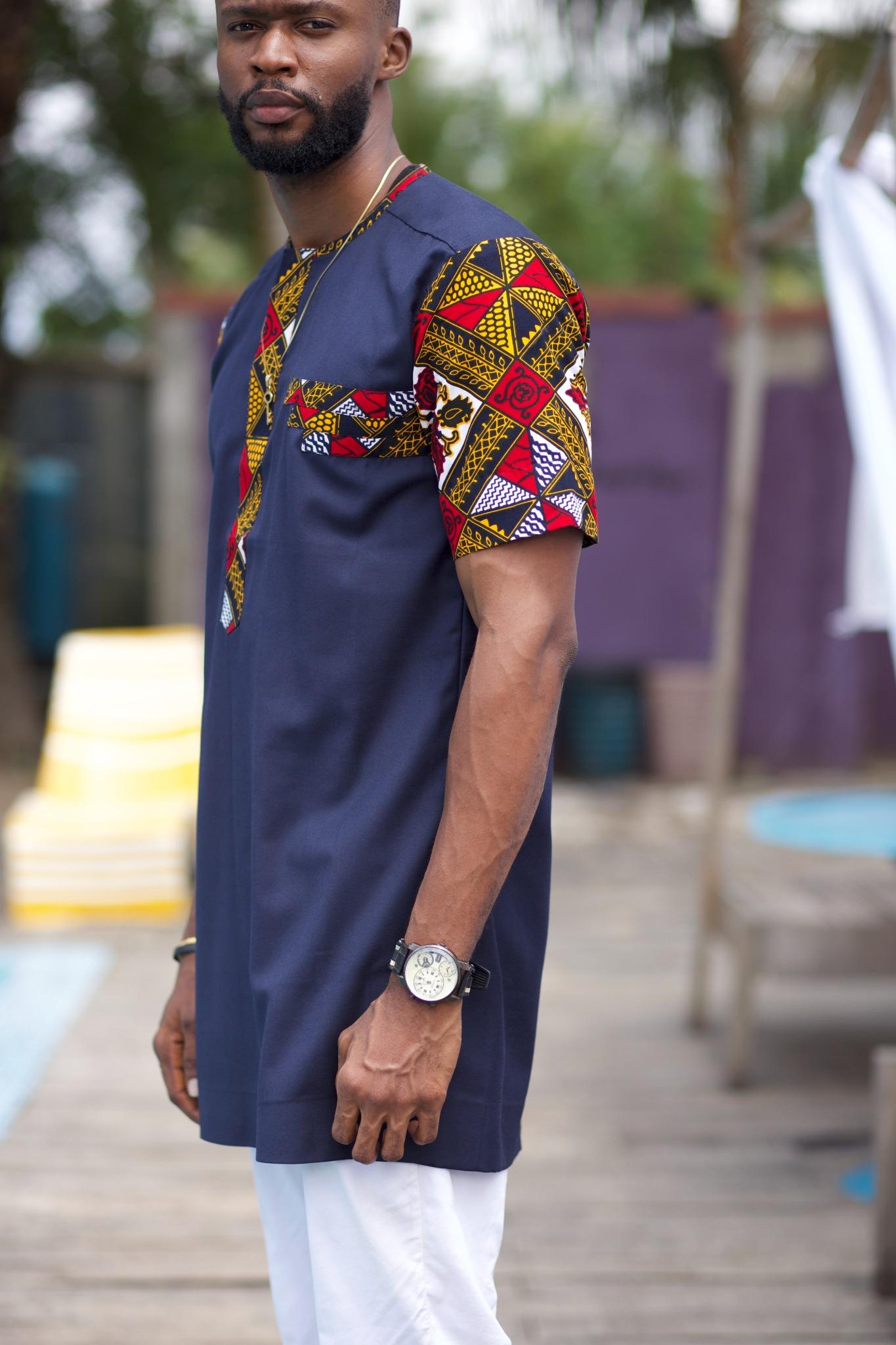 African Shirt for Men - Dayo African Ankara Shirt by Naborhi