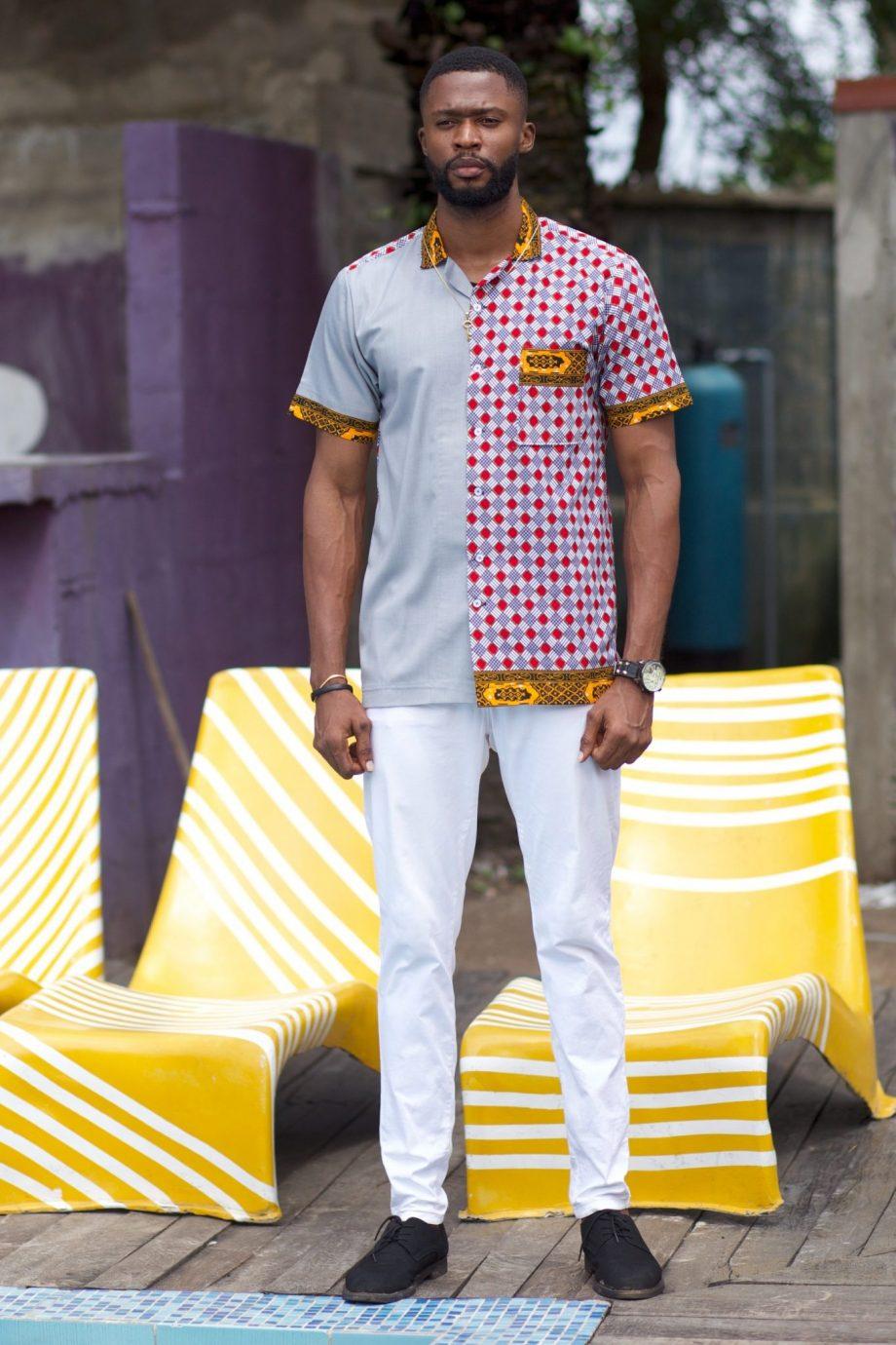 African Shirts for Men - African Ankara Shirt Ayanda by Naborhi