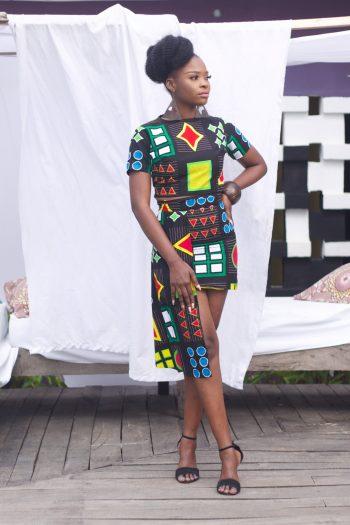 African Short Skirts - Azuka Drape Skirt by Naborhi