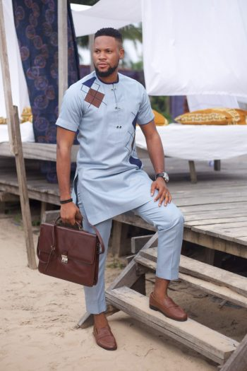 African Styles for Men - Folarin African Suit by Naborhi