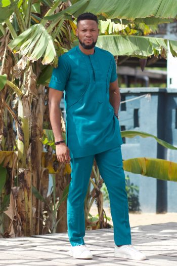 African Suit Mayowa by Naborhi - African Fashion for Men