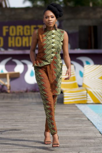 African Tops for Women - African Print Dele Top by Naborhi