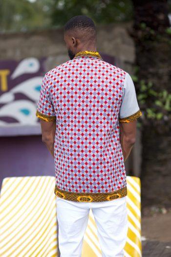 Ankara Shirts for Men - Ayanda African Shirt by Naborhi