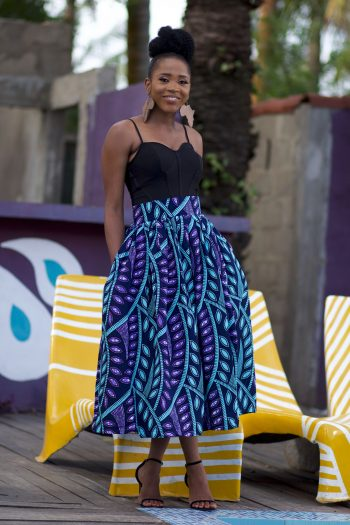 Beautiful African Print Midi Skirt by Naborhi - Kasiri