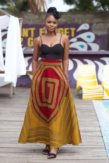 Beautiful African Skirts - African Maxi Flared Skirt Akanni by Naborhi