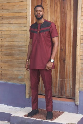 Mens African Style Clothing - African Suit Kiros by Naborhi