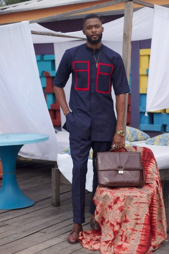 Mens African Suits - African Clothing for Men - Seye Senator Suit by Naborhi