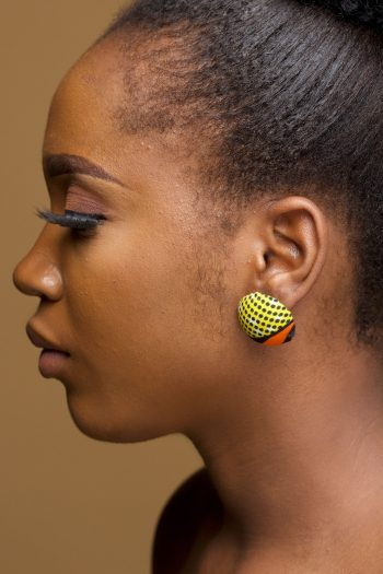 African Print Ankara Button Earrings_Nafula_Naborhi