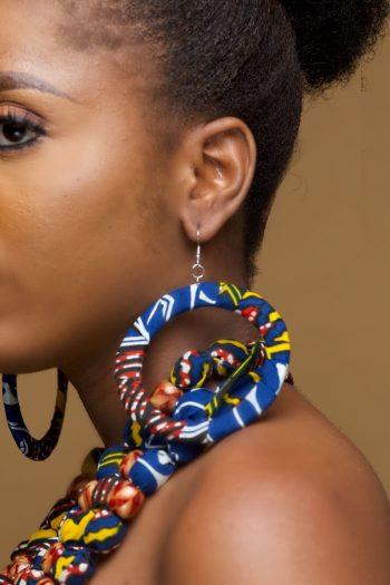 African Print Ankara Earrings - Reya - Naborhi