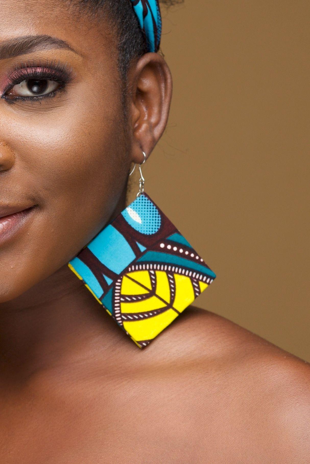 African Print Earrings Sekai by Naborhi