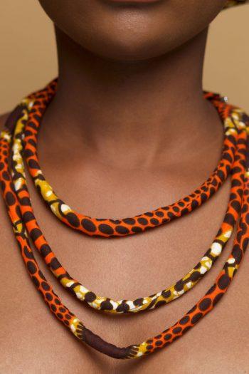 African Print Multi Row Necklace_Jolasun_Naborhi