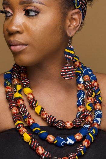 Beaded Ankara Jewellery Set_ African Print Accessories_Reya_Naborhi