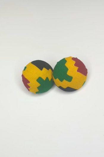 Ovieya Kente button earrings_Naborhi