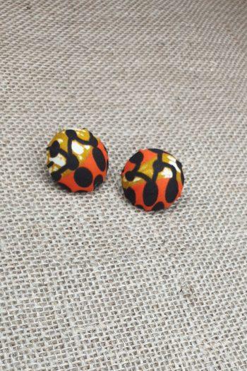 African Print Ankara Stud Earrings Jolasun