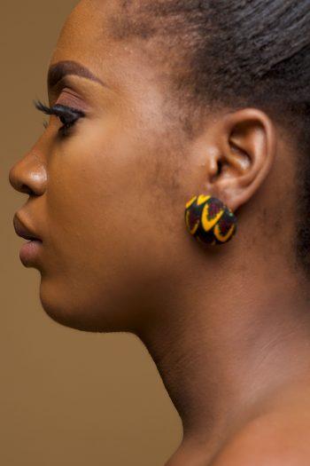 Aiysha Ankara Button Earrings by Naborhi