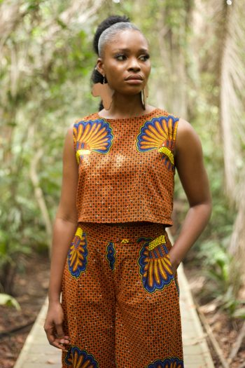 African Print Crop Top - Morayo By Naborhi - African Clothing for Women