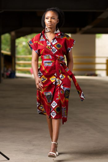 African Print Midi Shirt Dress by Naborhi - Maizah Shirt Dress