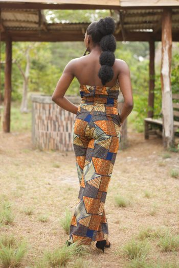 African Print Strapless Crop Top and Palazzo Pants Suwa - African Clothing for Women by Naborhi