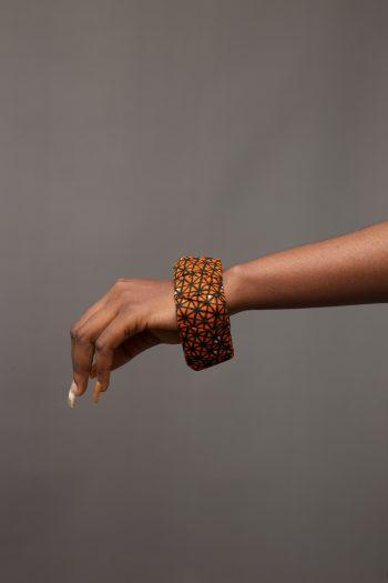 Ankara Bangle in African Print - Morayo - African Print Jewellery by Naborhi