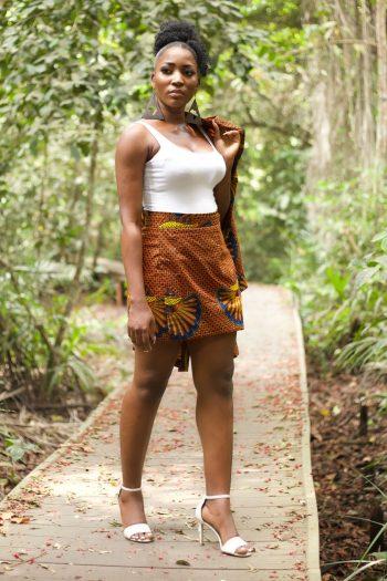 Ankara Wrap Mini Skirt in African Print - Morayo by Naborhi