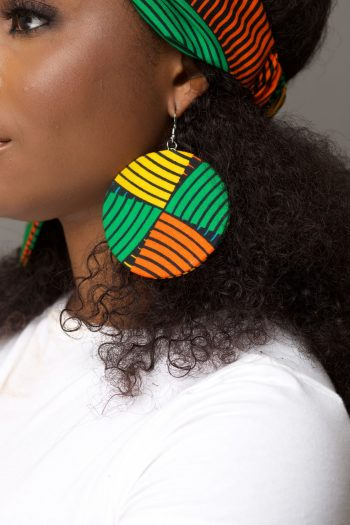 GIFTY Multi Colour African Print Earrings by Naborhi