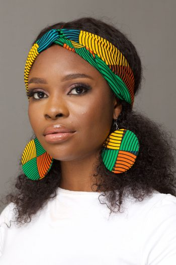 GIFTY Twist Front Head in Multi Coloured Ankara Fabric by African Fashion Brand Naborhi