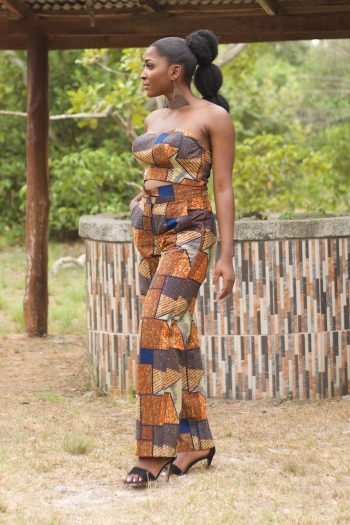 Suwa African Print Strapless Crop Top and Wide Leg Trousers by Naborhi