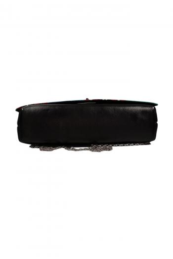 AZIZI African Print Leather Bag