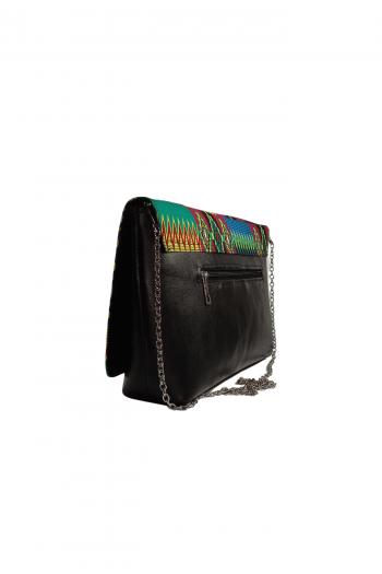 AZIZI Kente Leather Hand Bag by Naborhi