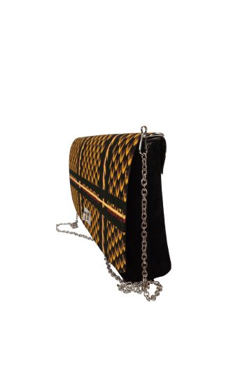 AZU African Print Ankara Suede Handbag by Naborhi