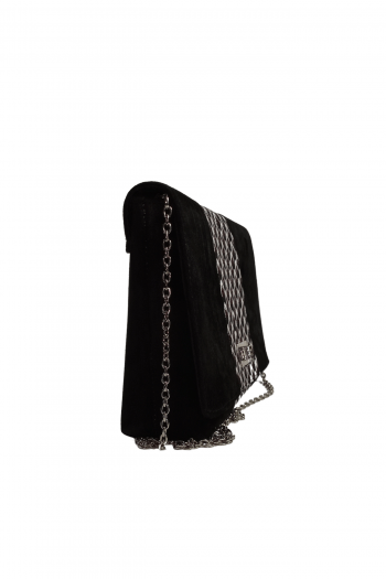 African Print Suede Leather Handbag by Naborhi IFEDE