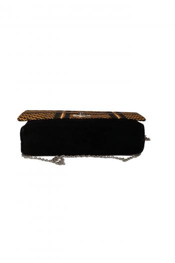 Azu African Print Suede Handbag by Naborhi