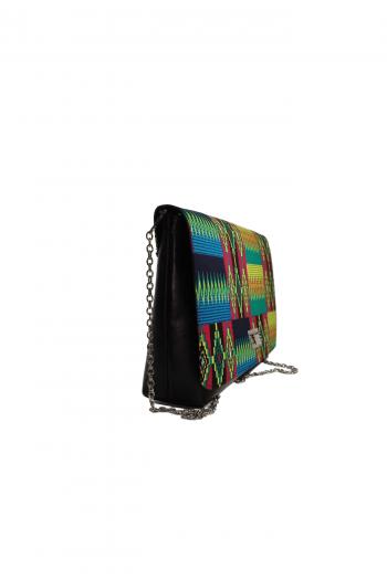 Multi Coloured Kente Ankara Bag by Naborhi - AZIZI