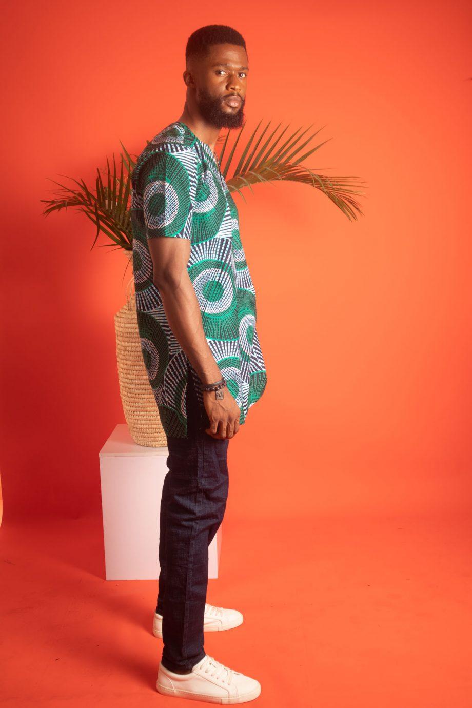 AADAN African Print Shirt for Men