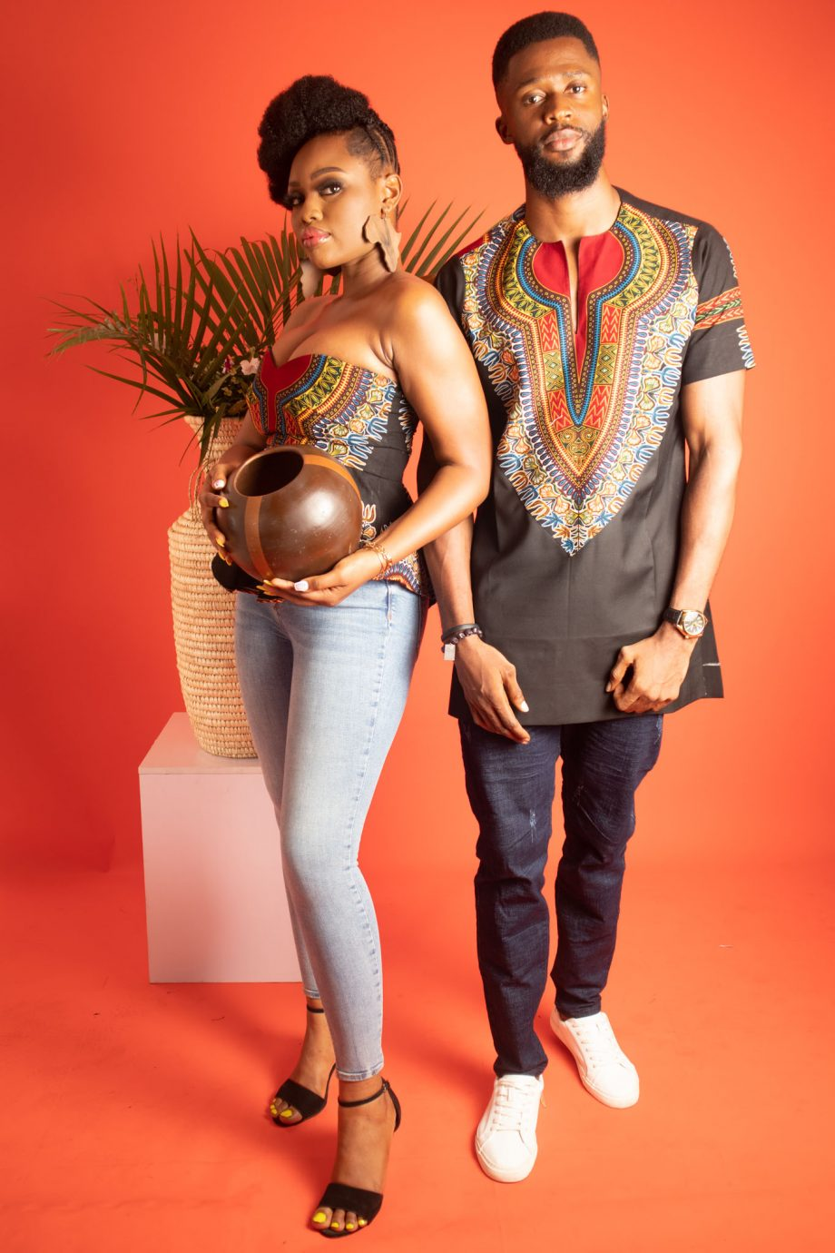 African Couples Outfit Abdalla by Naborhi