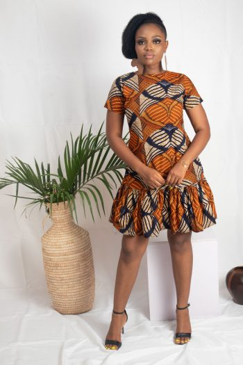 African Print Ankara Dress for Ladies - AMODI by Naborhi for African Dress Styles