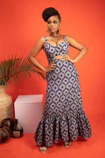 African Print Ankara Maxi Dress ASOKA by Naborhi African Fashion for Women