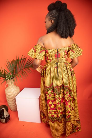 African Print Ankara Maxi Skirt and Crop Top AKILI by Naborhi