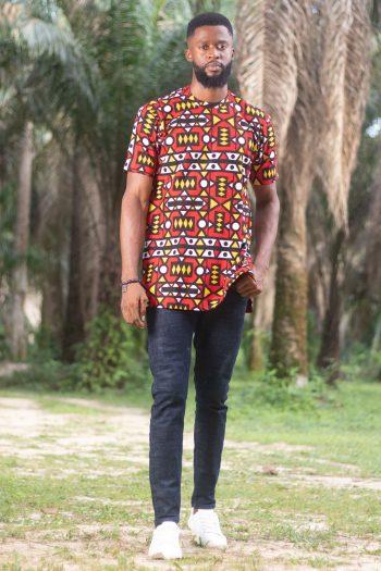 African Print Ankara Mens Shirt KAMARI by Naborhi
