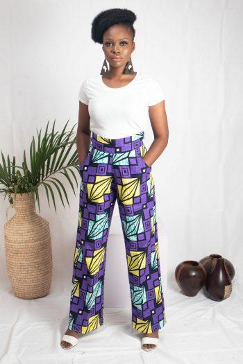 African Print Ankara Wide Leg Pants LINDIWE by Naborhi African Fashion Brand