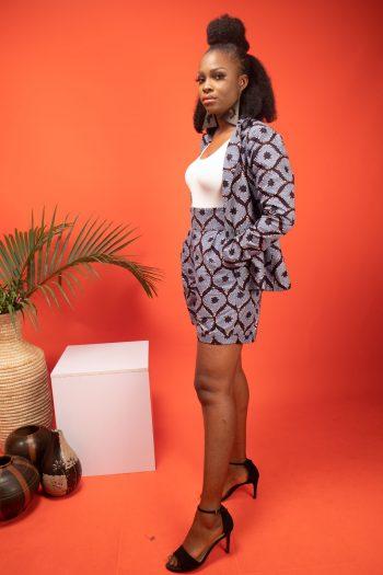 African Print Blazer with Matching Shorts ASOKA by Naborhi