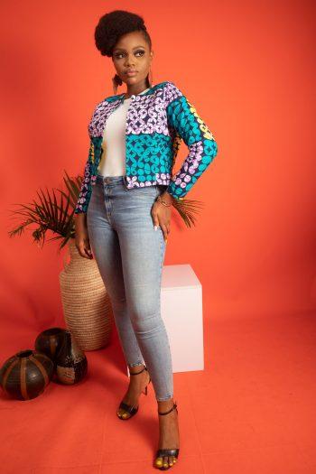 African Print Cropped Jacket IVIE by Naborhi