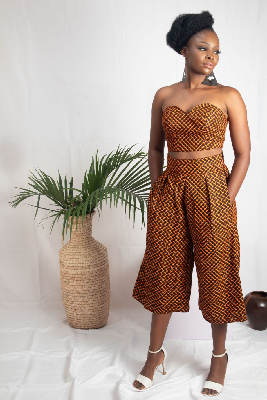 African Print Culottes and Matching Crop Top REMI by Naborhi