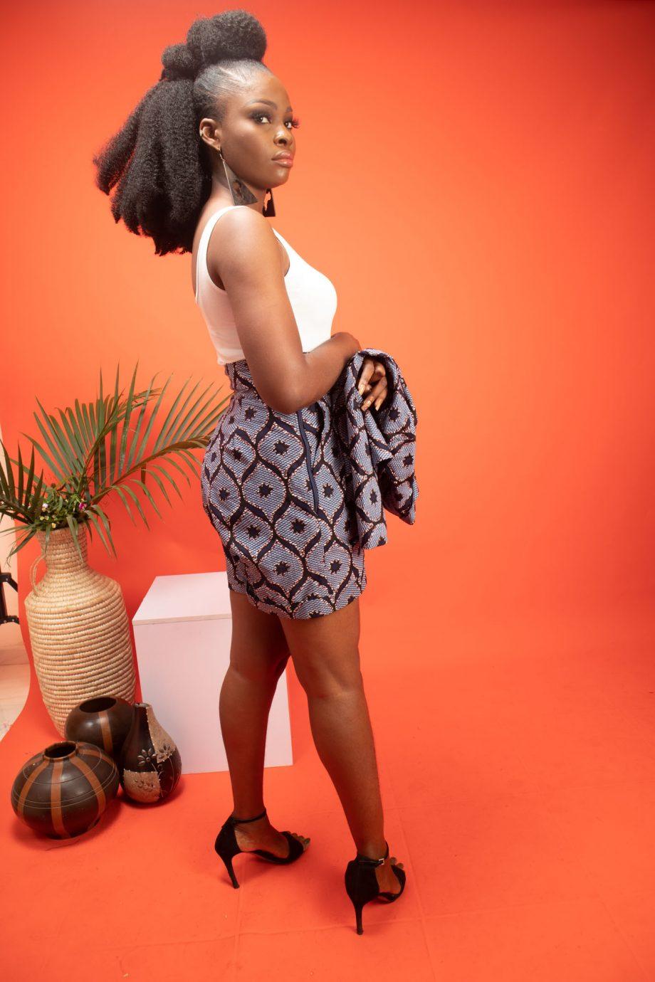 African Print Shorts in Blue Ankara ASOKA by Naborhi